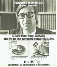 PUBLICITE ADVERTISING 037  1975  le rasoir Philips  3 tetes