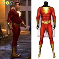 Shazam Billy Batson Cosplay Costume Superhero Jumpsuit Halloween Outfits
