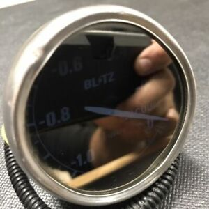 JDM 60mm Blitz Mirror Drive Vaccum Gauge -  Vintage - Japan - * RARE *