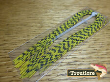 HARELINE DUBBIN GRIZZLY BARRED RUBBER LEGS YELLOW - NEW FLYTYING MATERIALS