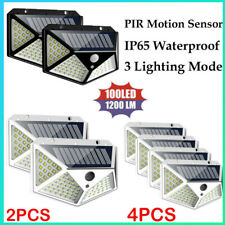100 LED Solar Sensor Wall Light Motion Lights Outdoor Security Home Lamp