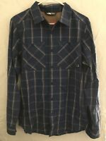The North Face Plaid Navy Blue Flannel Front Pockets Mens Sz Small NEW!