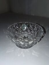LENOX Fine Crystal Criss-Cross Diamond Dish Bowl Made In Czech 3 3/4""