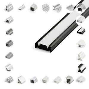 ALUPROFIL für LED STREIFEN 1/2m ALUMINIUM SCHIENE STANGE LICHT DEKORATION TOP