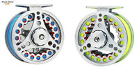 Fly Fishing Reel 1/2 3/4 5/6 7/8WT Aluminum Large Arbor Fly Reel Fly Line Combo