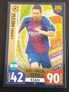 Match Attax 2017/18 Lionel Messi Hat-trick Hero FC Barcelona Champions League