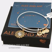 Authentic Alex and Ani Two Tone GEMINI RG/RS Expandable Bangle