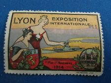 poster stamp cinderella vignette marken 1914 exposition internationale lyon