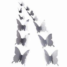 12PCS 3D Butterfly Stickers DIY ART Designer Decal Wall Sticker Room Decorations