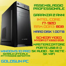 COMPUTER ASSEMBLATO PC FISSO INTEL Core i7-920 RAM 8GB HDD 1TB DVD-RW GTX650-2GB