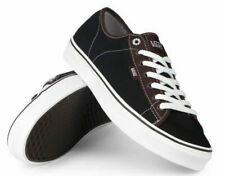 VANS Ferris Shoes Vulcanised Skate Trainers Black with Brown Upper Size: UK 6