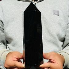 1465g Natural Black Obsidian Quartz Crystal Point Healing Wand Obelisk