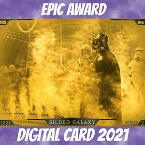 Topps Star Wars Card Trader Darth Vader Gilded Galaxy Award S/2 2021 Digital