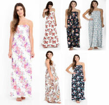Viscose Dresses for Women with Strapless/Bandeau