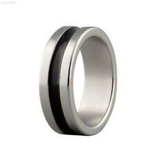 CCAA Strong Magnetic Magic Ring Silver+Black Coin Finger Trick Props Tool Size L