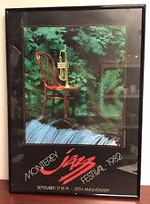 Vintage framed 1982 Monterey Jazz Festival 1982 ORIGINAL  28 X 20 Poster