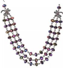 NEW:  Kirk's Folly Moonlight Dragonfly Beaded Necklace - Rainbow Iris