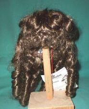 """Poupée Perruque Marron 11"""" à 11.5"""" wancke cheveux longs W. français Boucles/Noble coiffure"""