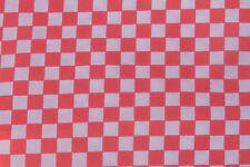 Rojo y Blanco Compruebe el material de seda italiana Casa de muñecas en miniatura accesorios ZD