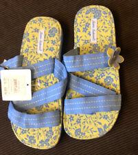NWT Hanna Andersson Blue Green Ribbon Sandals Flower 3 Girls