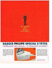 PUBLICITE  1968  PHILIPS rasoir