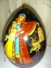 russian lacquer hand painted large egg magic carpet