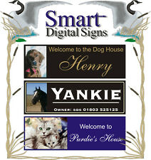 Personalised Dog Cat horse house name plate / plaque sign photo gift idea