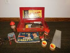 VINTAGE  TOY 1938 1948  GILBERT ERECTOR SET NO 7 1/2   ENGINEER'S SET METAL BOX