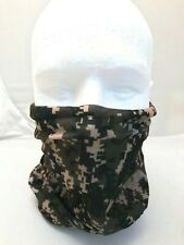 Bandana Head Wear Green Camouflage Army Minecraft Face Cover Handkerchief