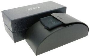 New Prada Case Black Sunglasses Eyeglasses Hard Box Authentic Eyeglass Magnetic