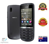 NOKIA ASHA 300 3G 5MP 1GHz GREY Smart Phone Unlocked Senior Cheap Button Phone