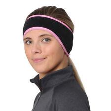 TrailHeads Women's Ponytail Headband - black / fast pink