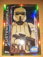 Star Wars Rogue One LEPP Limitierte Auflage Küstentruppler Sammelkarte Card