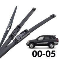 XUKEY Front Rear Windshield Wiper Blades For Toyota RAV4 XA20 2000 - 2005 01 03
