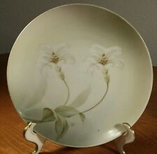 RS Germany White Flower Small Plate 6 Inches Across