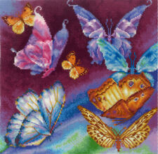 """Counted Cross Stitch Kit MAKE YOUR OWN HANDS P-11 - """"Rainbow Butterflies"""""""