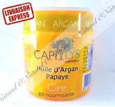 Gel Nourrissant Cire à l'Huile d'Argan Papaye 120ml CAPILYS Argan Oil Papaya Gel