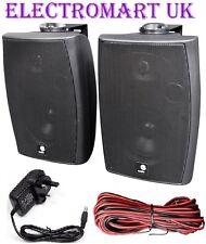 120W Coppia Stereo Montaggio a Parete attivo altoparlanti Bluetooth ingresso ausiliario Nero