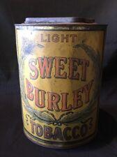 Antique Sweet Burley Tobacco Tin Light Fine Cut Spaulding And Merrick
