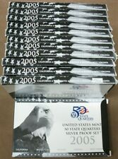 (12) 2005 90% Silver United States Quarter Proof Sets With COA
