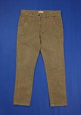 Susymix pantalone donna usato slim chino W30 tg 44 sigaretta casual beige T4488