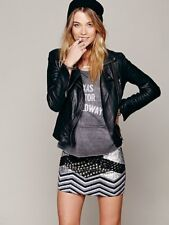 New Free People All That Remains Mind Plays Stud Embr. Mini Skirt Size 4 US $358