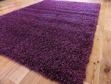 EXTRA LARGE PURPLE MEDIUM NEW MODERN SOFT THICK SHAGGY RUGS NON SHED RUNNER MATS