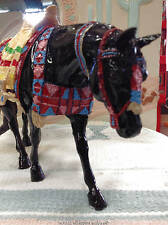 Black Horse Ranch Costumed Horse Classic Black Appaloosa (Rare)