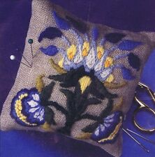 Blue Tree Pin Cushion Embroidery Kit DMC