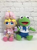 Vintage Miss Piggy and Kermit Muppet Babies Plush Stuffed Animal Toy Nanco