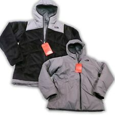 $150 North Face Girls Reversible Perseus Jacket Youth Small 7/8 TNF Black NEW