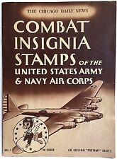 Combat Insignia Stamps U.S. Army Navy Air Corps 1942 Disney Chicago Daily News