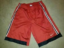Nike Dri-Fit Athletic Shorts Mens Adult sz Extra Large XL Basketball Red Black