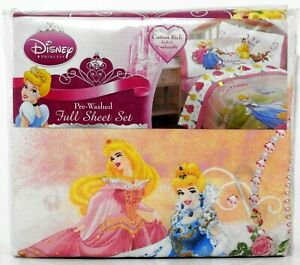 Disney Princess 4 pcs. Full Sheet SET Cotton Rich Soft & Comfortable NEW!